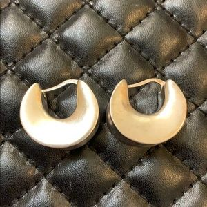 MILOR Designer Italy Sterling Silver Puffy Hoops